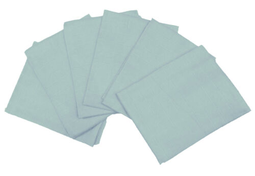 Muslinz Premium Muslin Squares 100/% Cotton Supersoft High Quality x 6 in Blue