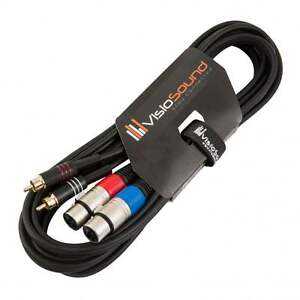 2-x-Female-XLR-to-2-x-RCA-Gold-Phono-Plug-Twin-Lead-Audio-Signal-Patch-Cable