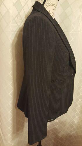 Black Kasper Dress 8p Jacket Blazer Pinstripe Nwt wSq7SB