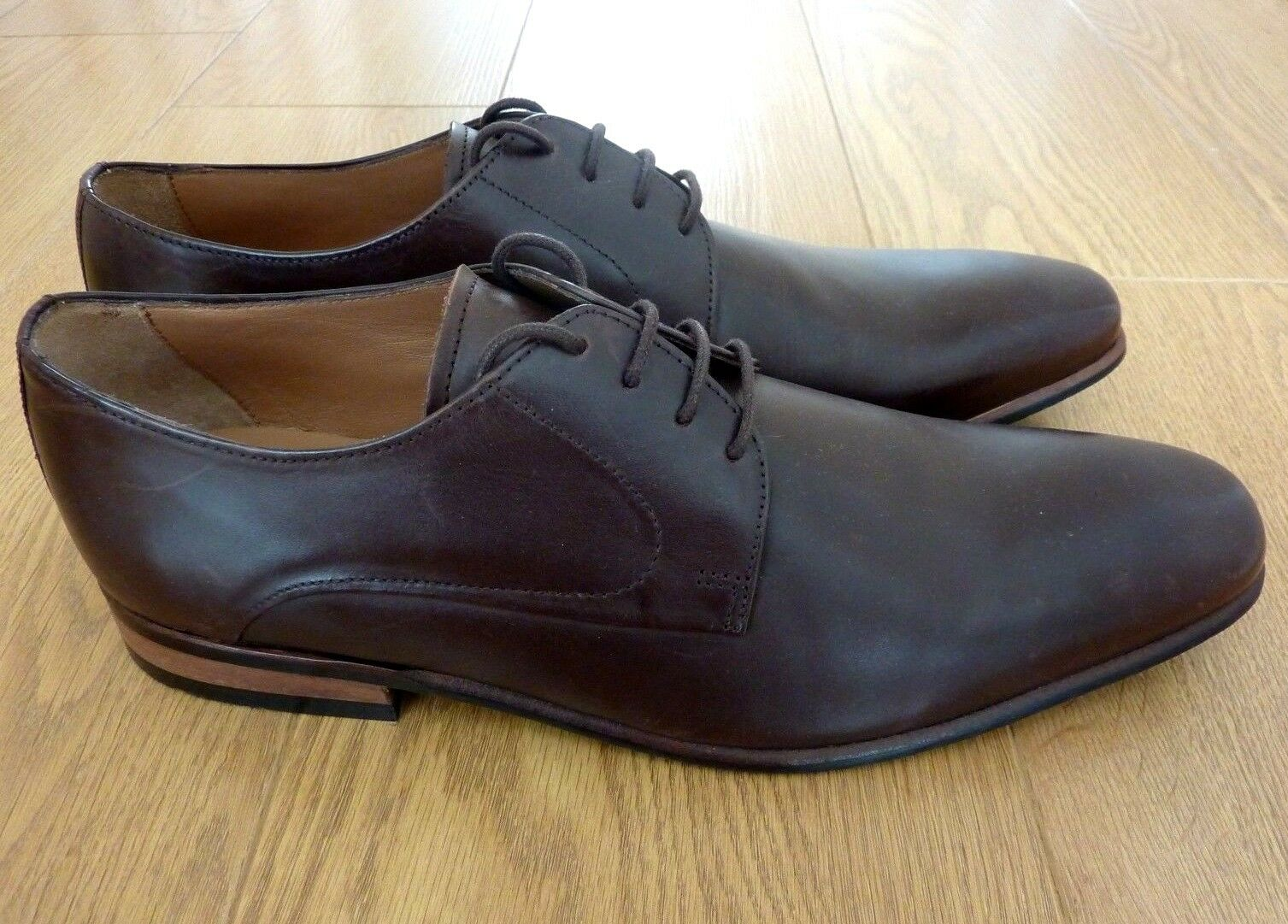 M&S Collection Luxury Derby Braun Leder ODD SIZE Right Schuhes Left UK 12, Right SIZE UK 10 bd85a0