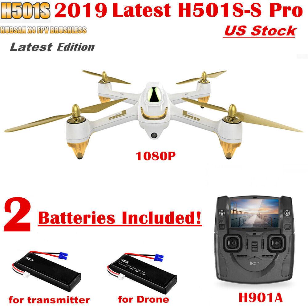 Hubsan X4 H501S sin escobillas 1080P FPV RC Quadcopter altitud síganme GPS rth Nuevo