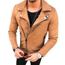 61dcda0d6 Denver Hapyes Men Brown Leather Jacket Heavy and Warm ZIPPER Pockets ...
