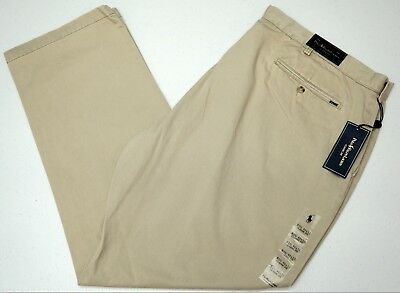 NEW Polo By Ralph Lauren TAN Classic Flat Front Chino Pant Big /& Tall  MSRP $98