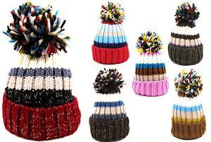 Caricamento dell immagine in corso Cappello-invernale-donna-berretto-con- risvolto-e-pon- 583d2e1345eb