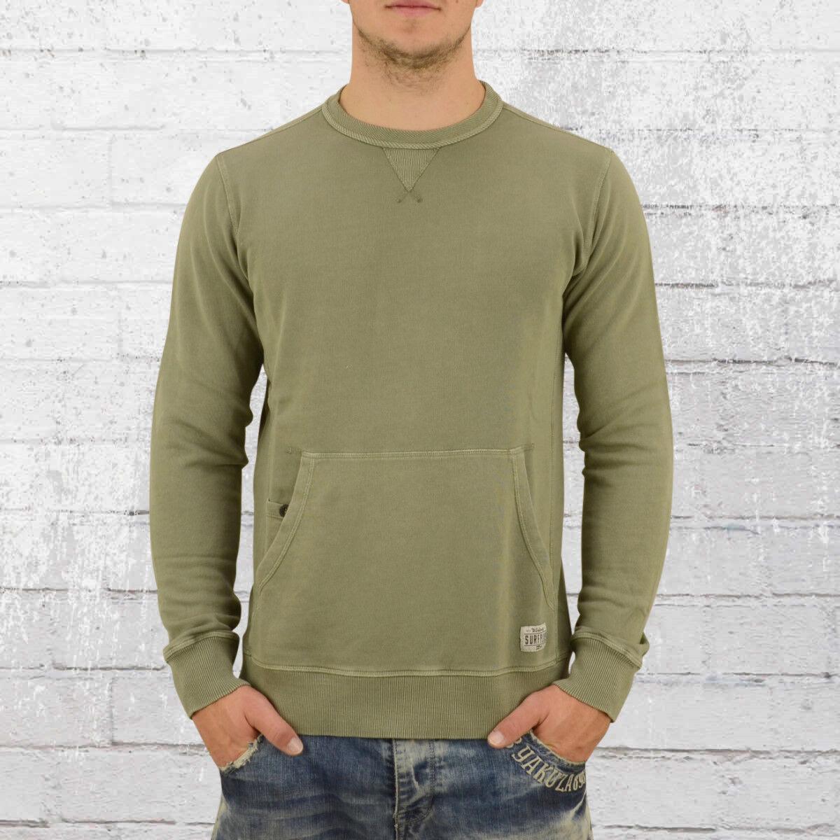 BILLABONG uomini SWEATER WAVE Slavati CREW verde OLIVA uomini Pullover Felpa Maglione