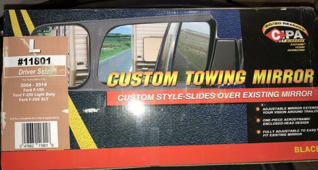 CIPA 11801 Ford F-Series Custom Driver Side Towing Mirror