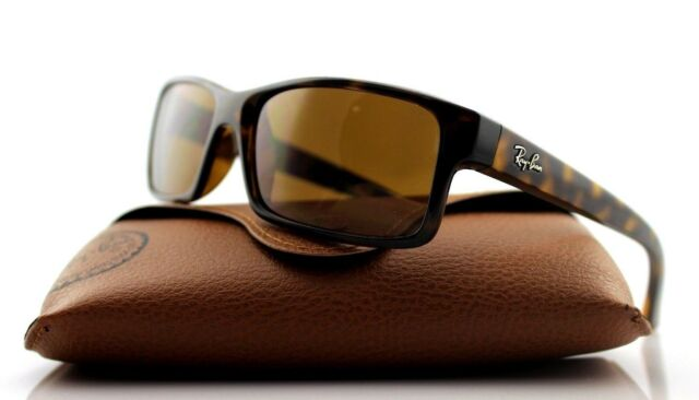 6ee00a4696c RARE Genuine RAY-BAN Square Tortoise Havana Brown Active Sunglasses RB 4151  710