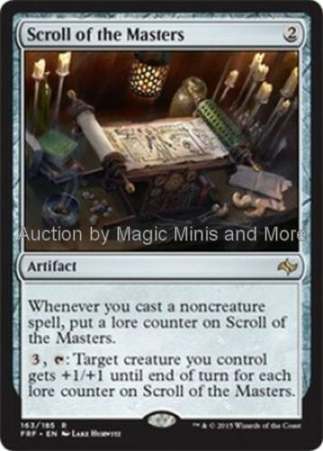 Fate Reforged ~ SCROLL OF THE MASTERS rare Magic the Gathering card