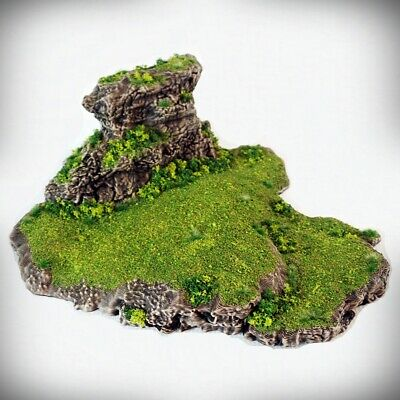Tabletop Wargaming D/&D 3D printed hill scatter terrain Stepped Spiral