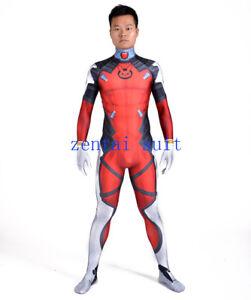 D.VA Deadpool Mix Costume Halloween Cosplay Zentai Suit High Quality Custom Made