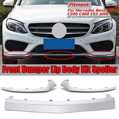 WarriorsArrow Lift /& Right Chrome Front Lower Bumper Trim Molding for Mercedes-Benz C250 2012-2015 C300 2012-2014 C350 2012-2015 Fits 2048853721,2048853821