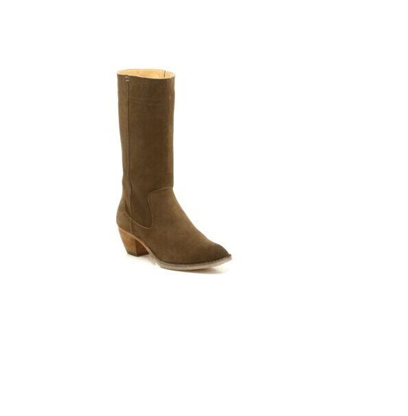 CLARKS Originals **Dacey Belle Walnut Suede** Mid-Calf Classic Chelsea Boots UK4