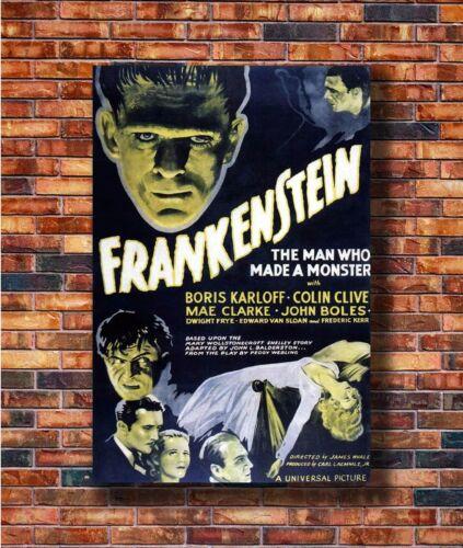 Hot Gift C981 20x30 24x36in Poster Art Frankenstein 1931 Classic Horror Movie