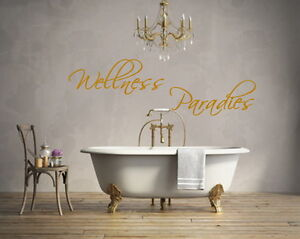 Wandtattoo Wellness Paradies Bad Badezimmer Wandsticker Fliesen