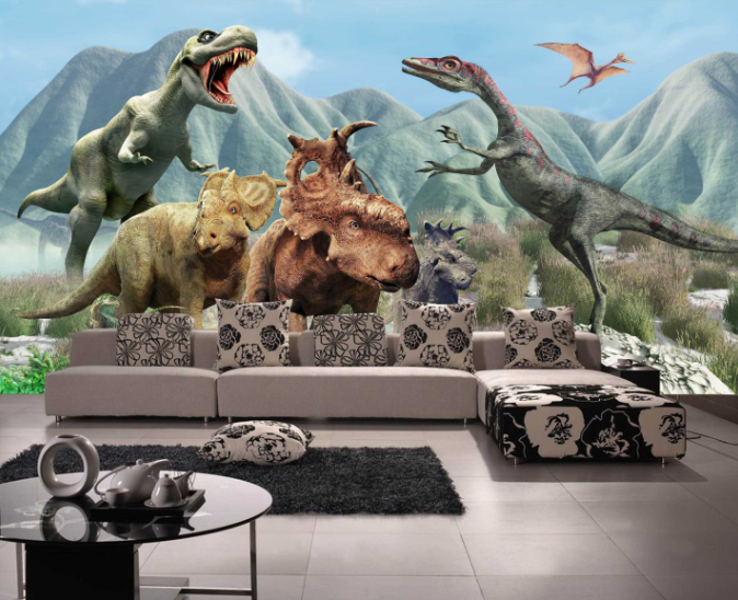 3D Dinosaur 415 Wallpaper Murals Wall Print Wallpaper Mural AJ WALL UK Sidney