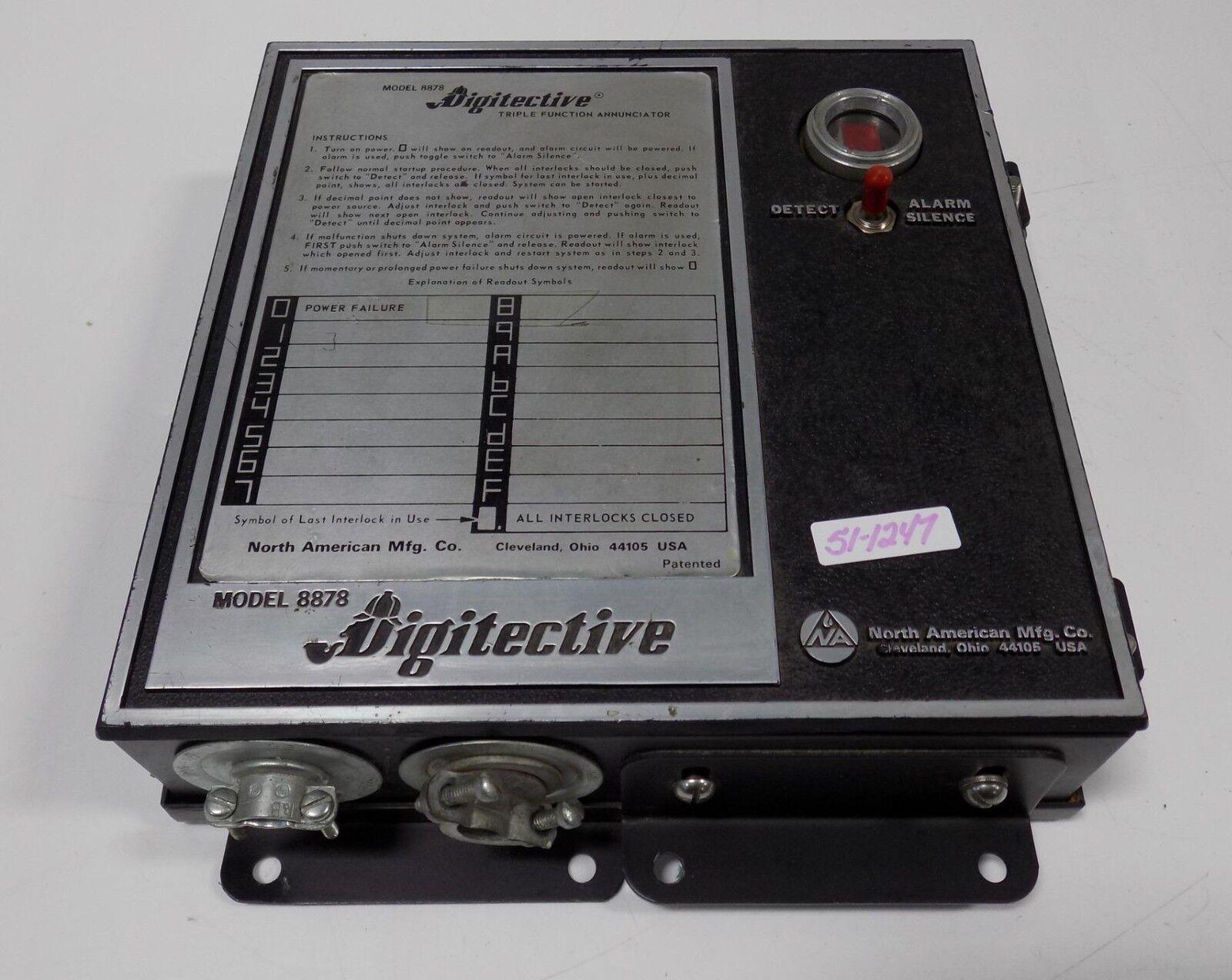 NORTH AMERICAN MFG. DIGITECTIVE ANNUNCIATOR MODEL 8878