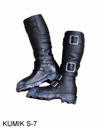 "1//6 Scale Black Shoes Female Boots KUMIK S-7 Fit 12/"" Action Figure Body Toys"