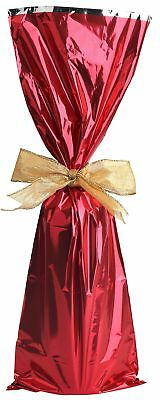 Metallic Mylar Wine Gift Bags For 750ml To 1l Bottles 25 Pieces Red Ebay