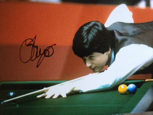 JOHN PARROTT TOP ENGLISH SNOOKER PLAYER SUPER SIGNED COLOUR PHOTO
