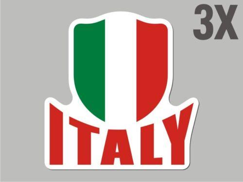 3 Italy Italian shaped sticker flag crest decal car bike Stickers CN053