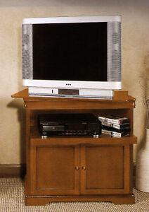 Mobile Porta Tv In Legno Arte Povera Con Piano Girevole Ebay