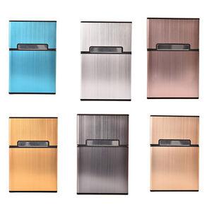 20x-Stylish-Men-039-s-Metal-Pocket-Cigarette-Case-Box-Tobacco-Holder-Container