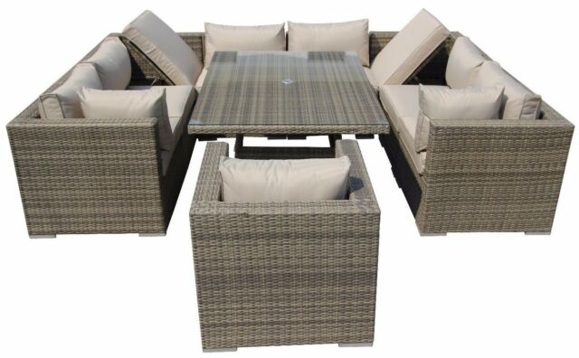 Rattan Sofa Garden Furniture Patio Corner Dining Sofa Rattan Sofa Dining Det