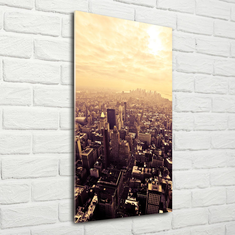 Wand-Bild Kunstdruck aus Acryl-Glas Hochformat 70x140 Manhattan New York