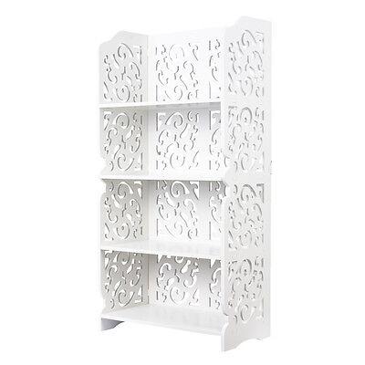 4 Tier WPC Display Shelf Shabby Chic Bookshelf For Home Office Shop Display
