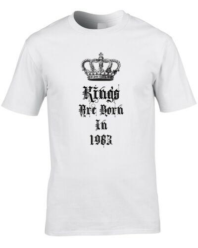 Kings Are Born In 1983 Mens T-Shirt 36th Thirty Six Birthday Gift Idea Royal