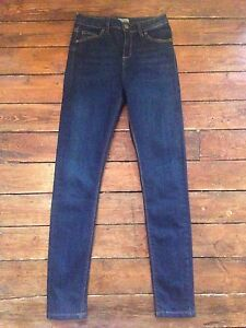 Topshop-Moto-Skinny-Jeans-Jamie-Blue-Size-10-W28-To-Fit-L30-NB64-DEFECT