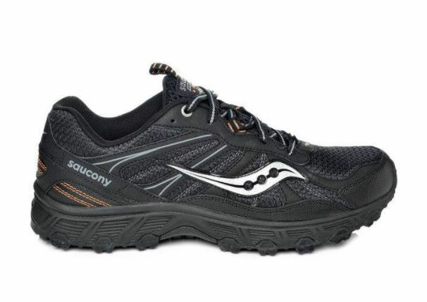 SAUCONY MEN'S RUNNING SHOES GRID ECLIPSE TR 2  6142409 16 BLK GRY ORG 8 W