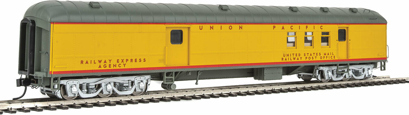 Walthers Prossoo HO Scale 70' Heavyweight RPOborsagage auto Union PacificUP