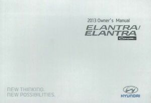 Image Is Loading 2013 Hyundai Elantra Owners Manual User Guide