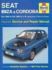 Seat Ibiza and Cordoba (1993-99) Service and Repair Manual by A. K. Legg, Steve Rendle (Hardback, 1999)