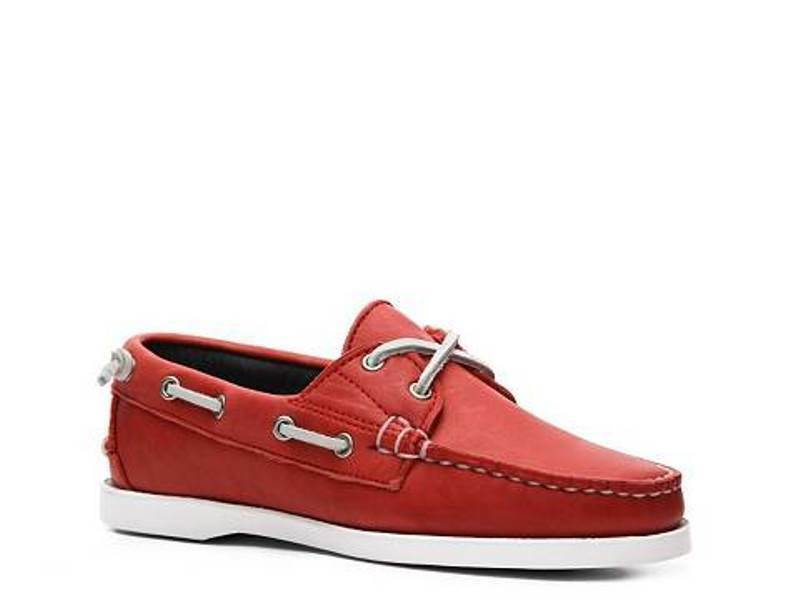 Ralph Lauren Collection Red made Boat Shoe Thea Leather made Red in USA 5.5US 36 EU $325 8415ae
