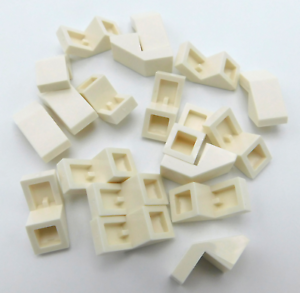 LEGO-LOT-OF-20-NEW-WHITE-SLOPE-45-1-X-2-WITH-CUTOUT-PIECES-SLOPES