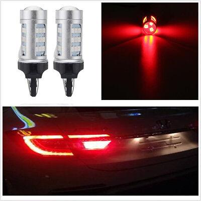 Car Tail Lights >> 2x T20 7443 Red Led Car Tail Light Flashing Strobe Alert Safety Brake Stop Light Ebay