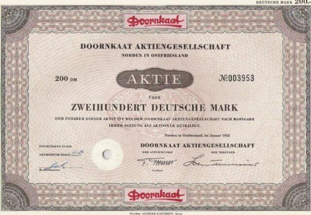 Doornkaat AG, Norden in Ostfriesland 1953, 200 DM