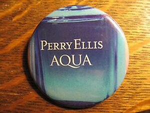 Perry Ellis Aqua Designer Fragrance Flasche Logo Werbung Anstecker Button