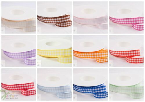 ** Shindo Gingham Highest Quality Small Check School Hair Ribbon Favours Crafts