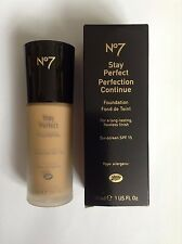 Boots No 7 Stay Perfect Make up Face Foundation 45 Espresso 30ml