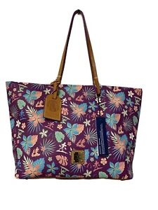 Aulani Purple Floral Collection by Disney Dooney & Bourke NEW Tote Hawaii HTF