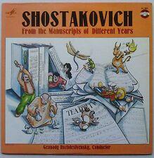 ROZHDESTVENSKY SHOSTAKOVICH From The Manuscripts of Different Years Melodiya EXC