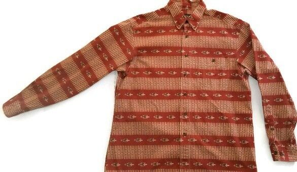 Men's Vintage Woolrich Long Sleeve Button Down Shirt Size Large