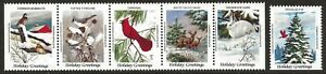 Canada-1984-CWF-Canadian-Wildlife-Federation-Cinderella-Xmas-Seal-Set-VF-NH