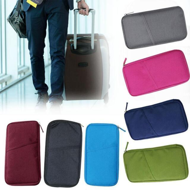 Travel Passport Credit ID Card Cash Wallet Purse Holder Case Document Bag 1pc PW