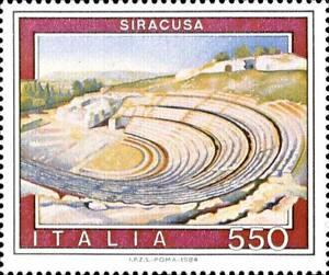 ITALIA-ITALY-1984-SIRACUSA-Sicilia-Teatro-Greco-Stamp-MNH
