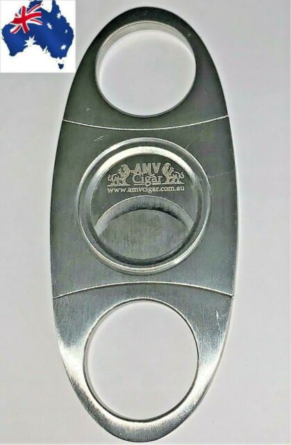*NEW*Stainless Steel Pocket Cigar Cutter Knife Double Blades Scissors