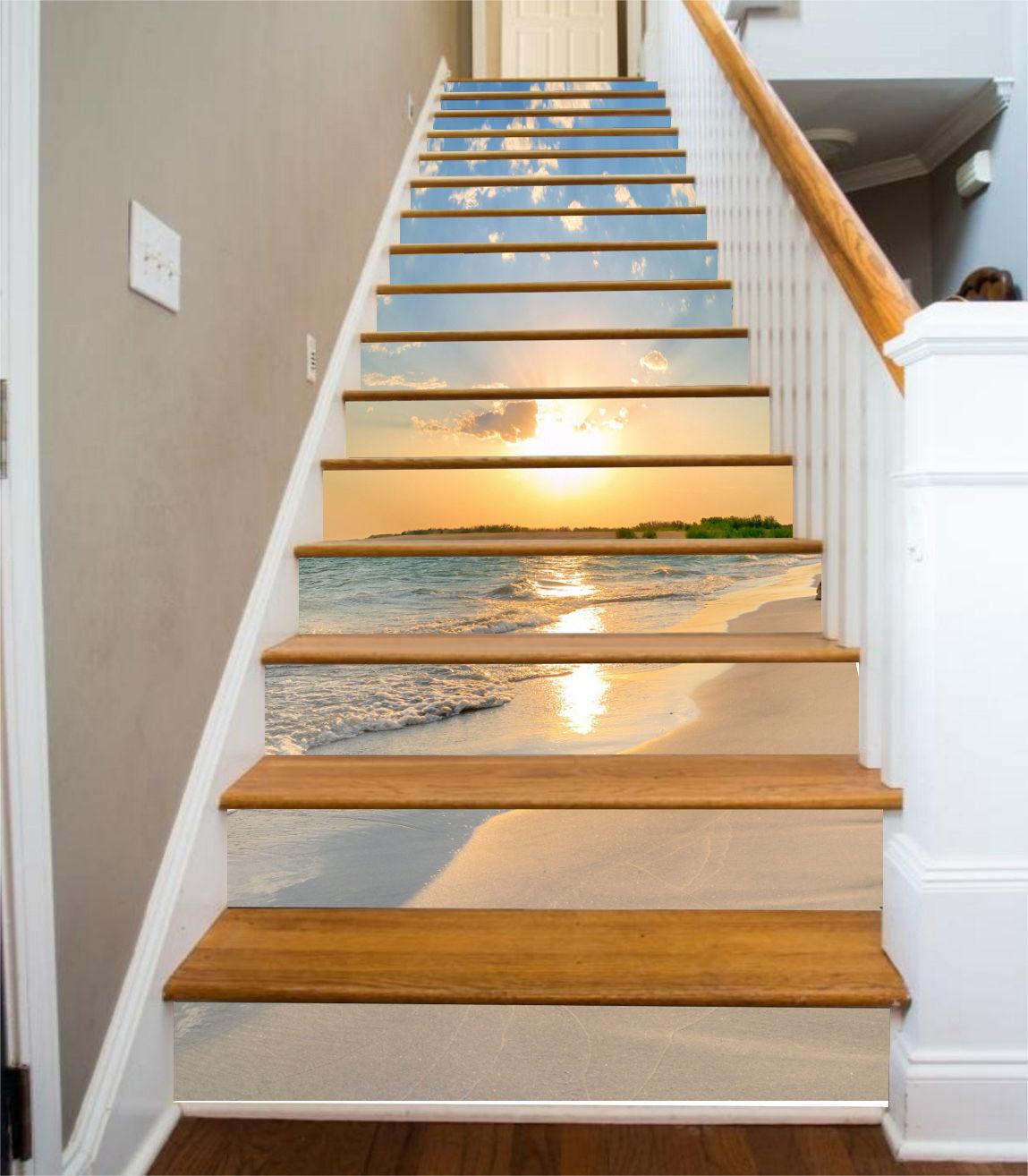3D Sunny Beach 3551 Stair Risers Decoration Photo Mural Vinyl Decal WandPapier AU